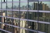 nyc skyline reflection poster