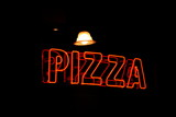 neon pizza sign poster