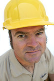 friendly hard hat worker poster