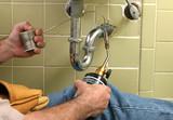 plumber welding pipe