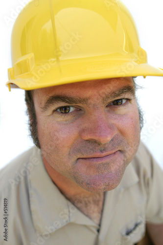 friendly hard hat worker