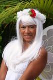white fairy woman poster