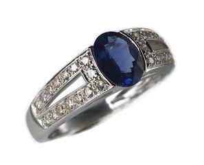 bague pierre et diamants