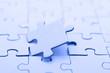 puzzle, blau