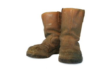 dirty leather builders boots