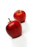 a pair of red apples poster