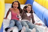girls having fun poster