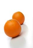 a pair of juicy oranges poster