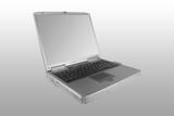 silver laptop poster