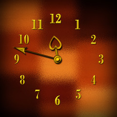 clock- face, dark colored