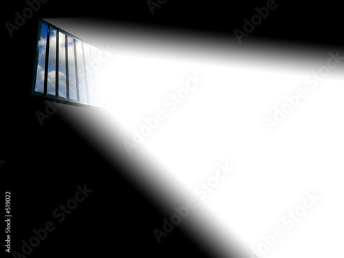 light through the latticed prison window