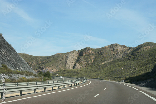 motorway mountain travel