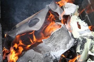 burning boxes