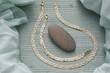 parure collier et bracelet en or