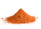 red ochre pigment pile poster