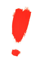 exclamation mark painted with brush