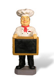 chef with menu poster