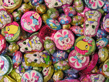 colorful easter candy poster