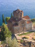 an old orthodox church in ohrid, macedonia poster