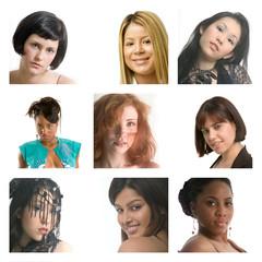 nine young women