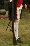 colonial soldier--revolutionary  war reenactment
