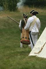 off to battle--revolutionary war reenactment