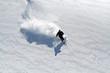 Leinwanddruck Bild - ski poudreuse