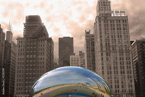 Plexiglas Artistiek mon. chicago downtown