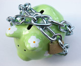 piggy bank with padlock 1 poster