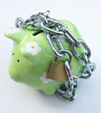 piggy bank with padlock 2 poster