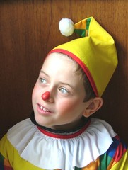 le petit clown pensif