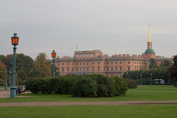 st.petersburg. a view of the st.michail castle fro