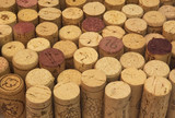 background of wine corks poster