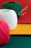 red, green, yellow still-life poster