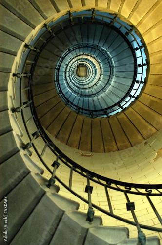 Leinwanddruck Bild escalier en colimaçon