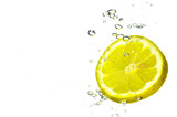 lemon slice splashing