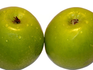 green big apples