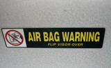 air bag warning poster