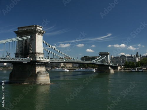 budapest chain bridge and danube