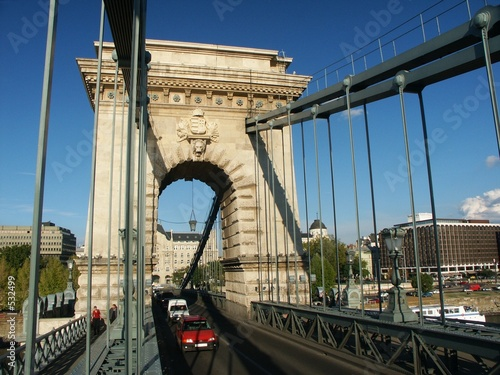 budapest chain bridge and city