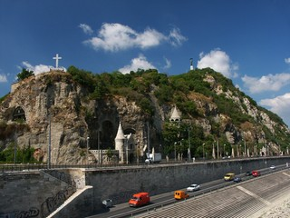 liberty statue and mount gellert, budapest