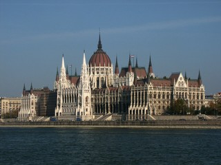 river of danube and hungarian parliament