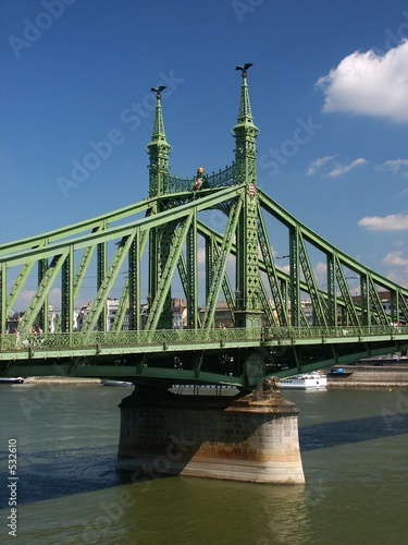 pillar of liberty bridge and danube