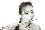 beautiful flutist (horizontal) poster