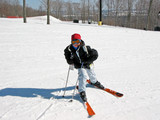 girl child ski poster