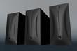 three black computer cases 01