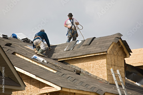 canvas print picture construction roofing