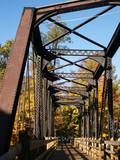 old steel-truss bridge poster
