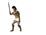 greek warrior 18 poster