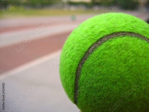 poster of closeup of a tennis ball